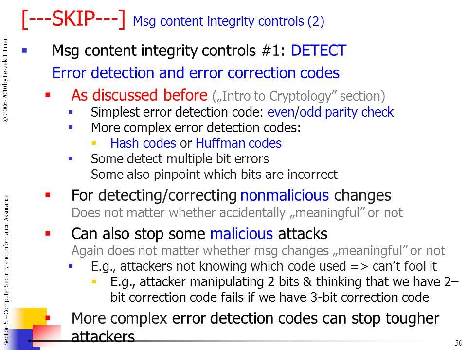 [---SKIP---] Msg content integrity controls (2)